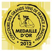 Médaille d'or Macon 2012